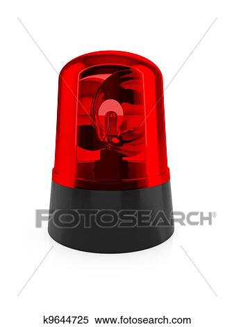 Flashing Red Light Animated Gif Stock Image - Red flashing