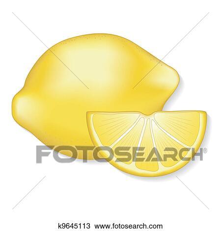 柠檬片手绘图_背景素材卡通青色叶子和柠檬片矢量图