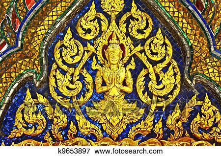 泰国人, 艺术, 是, primarily, 组成, 在中, 古代, 泰国人, 佛教徒