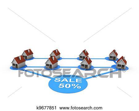 剪贴画 销售, 房子