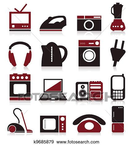 clip art of home appliances k9685879 search clipart illustration rh fotosearch com Document Icon Clip Art Contact Us Icon