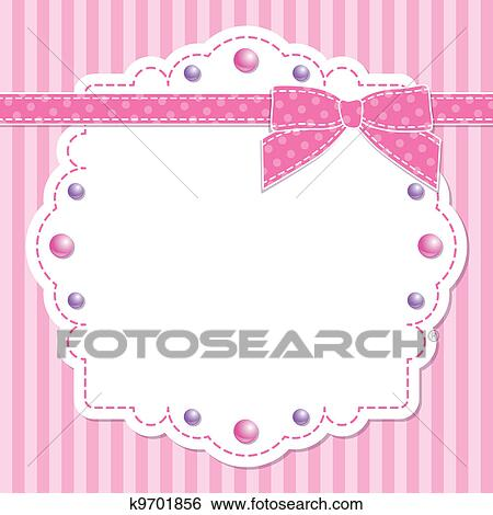 Clip Art of Baby pink background k6701638 - Search Clipart ...