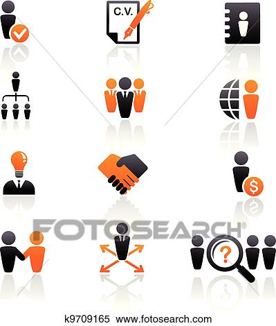 Stock Photography and Stock FootageClipart of collection of human resources icons
