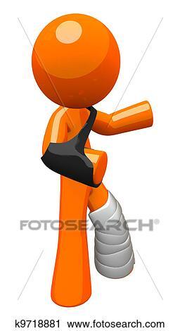 clipart orange homme moule et fronde onduler k9718881 recherchez des clip arts des. Black Bedroom Furniture Sets. Home Design Ideas