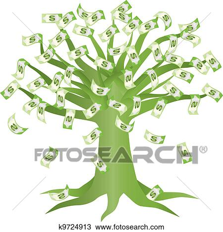 Money tree clipart