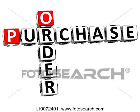 clipart of 3d order purchase crossword k10072401 search clip art rh fotosearch com purchase clip art images purchase clipart and fonts