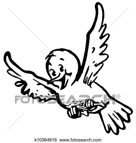 Birds flying clipart black and white