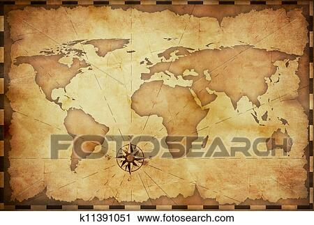 Clipart of abstract old grunge world map k11391051 search clip art clipart abstract old grunge world map fotosearch search clip art illustration murals gumiabroncs Image collections