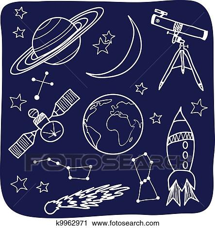 clipart of astronomy space and night sky objects k9962971 search rh fotosearch com astronomy clipart free Solar System Clip Art