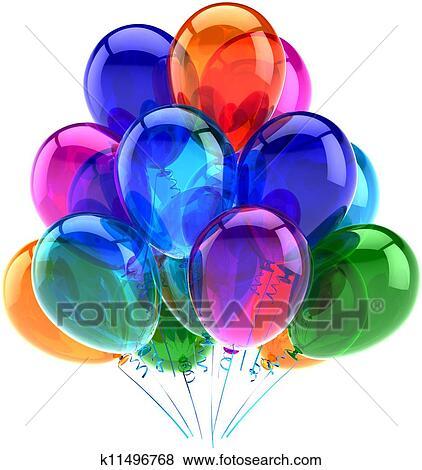 Stock Illustration of Balloons birthday decoration modern k11496768