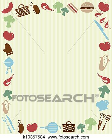 Clipart Of Barbecue Picnic Invitation K  Search Clip Art
