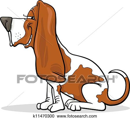 clipart of basset hound dog cartoon illustration k11470300 search rh fotosearch com basset hound clipart free basset hound birthday clipart