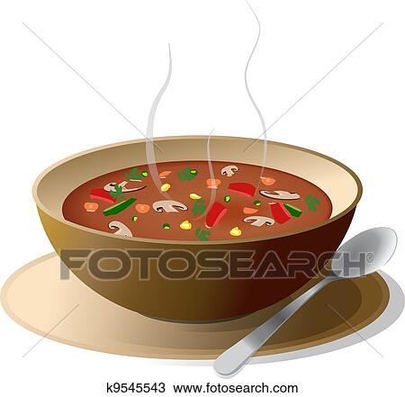 clipart of bowl of hot vegetable soup k9545543 search clip art rh fotosearch com clip art supply chain clip art supplies