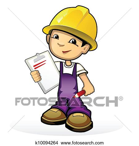 clipart of builder in yellow helmet k10094264 search clip art rh fotosearch com body builder clip art home builder clip art