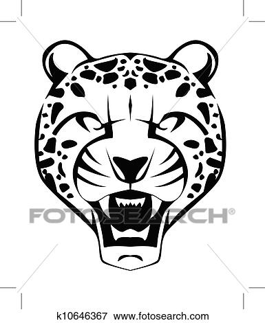 clip art of cheetah face k10646367 search clipart illustration rh fotosearch com clipart cheetah running cheetah clipart face