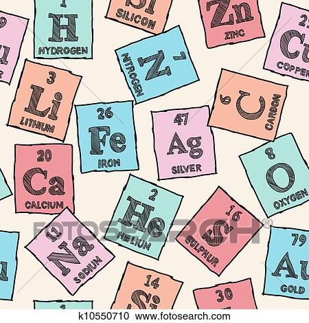 Clipart of chemical elements periodic table seamless pattern clipart chemical elements periodic table seamless pattern fotosearch search clip art urtaz Choice Image