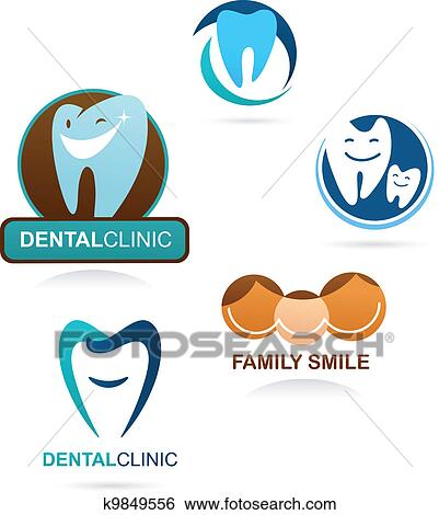 clip art of collection of dental clinic icons k9849556 search rh fotosearch com clip art construction images clip art icons free