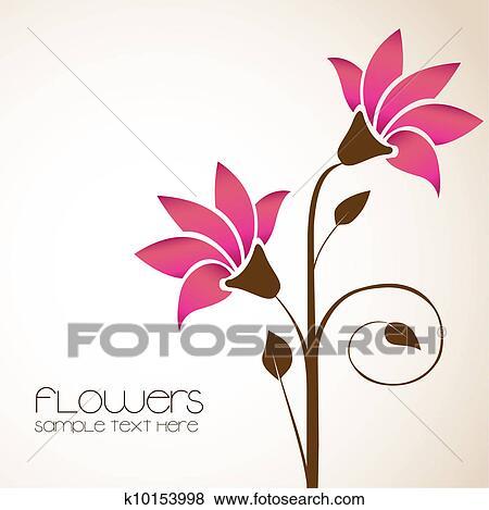 Single flower illustration