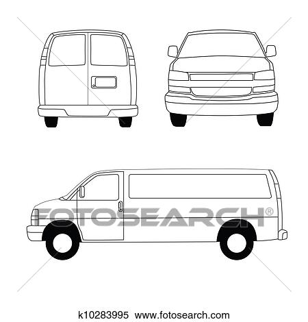 Stock illustration of delivery van blueprint 2 k10283995 search stock illustration delivery van blueprint 2 fotosearch search clipart drawings decorative malvernweather Images