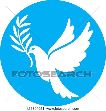 Clipart Of Dove Of Peace Peace Dove K11394051 Search Clip Art