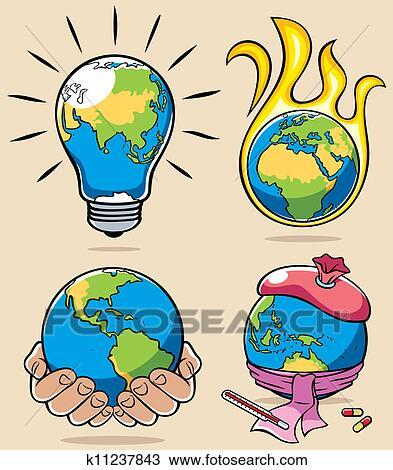 clipart of ecology concepts 3 k11237843 search clip art rh fotosearch com Environment Clip Art Tree Clip Art