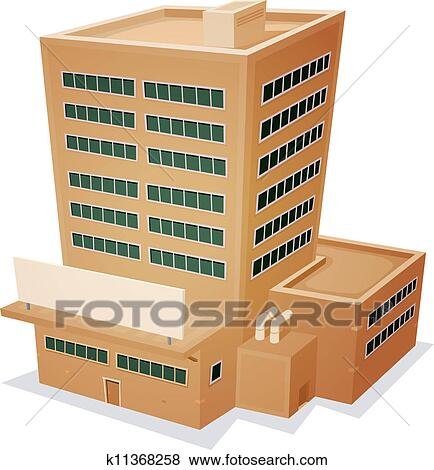 Factory building clipart
