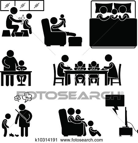 Clipart Of Family Activity House Home Symbol K10314191