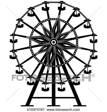 clipart of ferris wheel vector silhouette k10374161 search clip rh fotosearch com wheel clipart free wheel clip art images