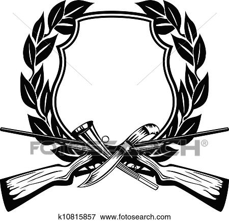 clip art of frame hunting k10815857 search clipart illustration rh fotosearch com hunting clipart png hunting clipart borders