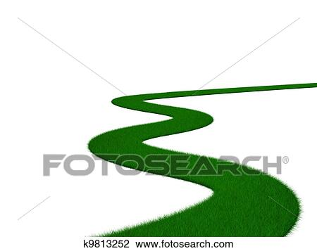 clip art of green grass road k9813252 search clipart illustration rh fotosearch com clip art road signs free clip art road repair