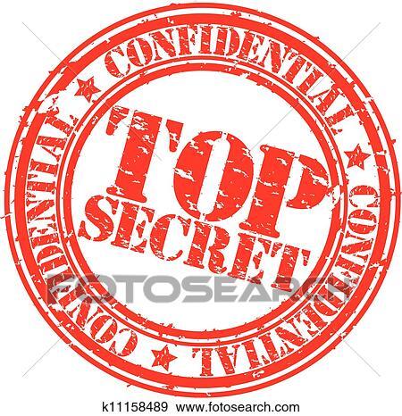 clip art of grunge top secret rubber stamp vec k11158489 search rh fotosearch com top secret clipart black and white Secret Agent Clip Art