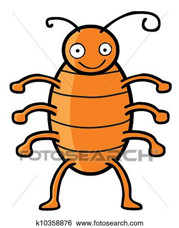 clip art of happy cockroach k10358876 search clipart rh fotosearch com cockroach clipart black giant cockroach clipart