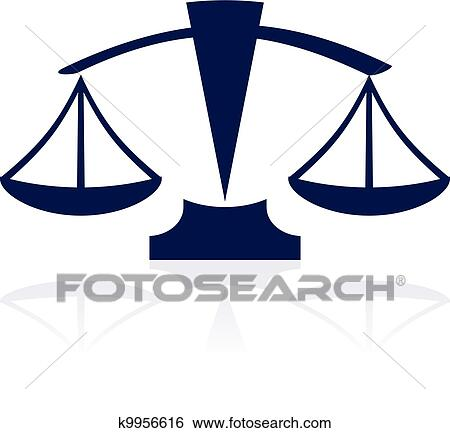 clip art of justice scales vector blue icon k9956616 search rh fotosearch com justice clip art free justice clip art free