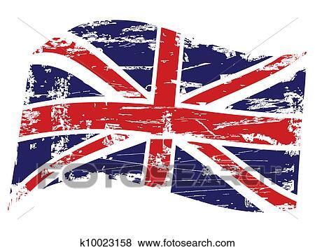 Clip Art of Grunge United Kingdom flag k10023158 - Search ...