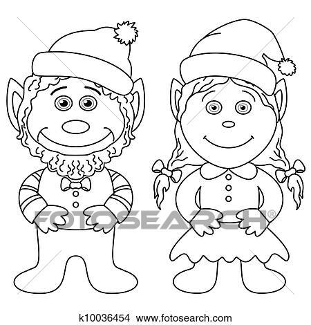 手绘图 - 守护神, 男孩和女孩