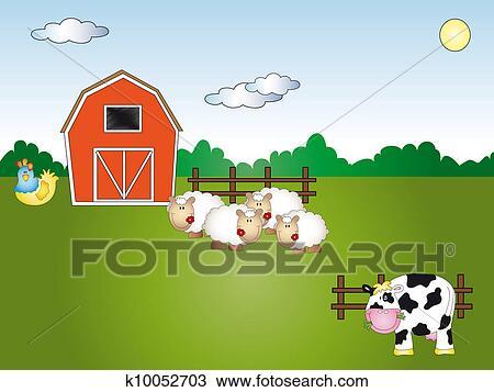 Disegno animale fattoria cartone animato k10052703 for Stampe di fattoria gratis