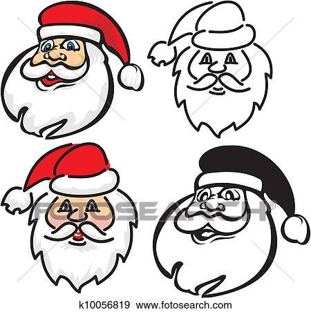 剪贴画 - 圣诞老人,