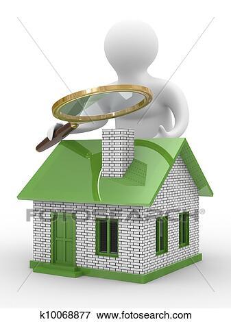 banque d 39 illustrations recherche nouveau house isol 3d image blanc k10068877. Black Bedroom Furniture Sets. Home Design Ideas