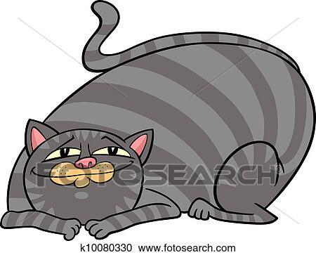 Gros chat de dessin animé
