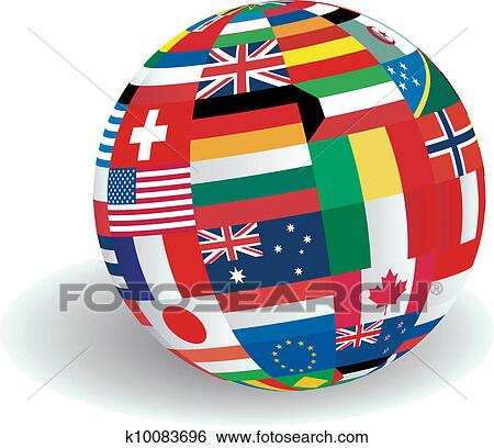Clip Art of World Flags illustration k10083696 - Search ...