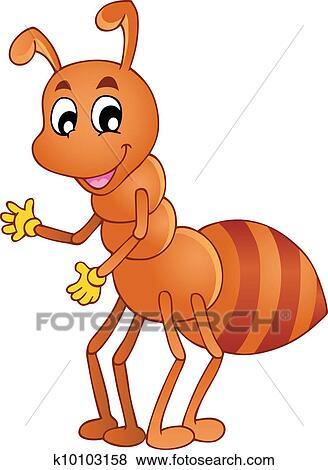 剪贴画 - 卡通漫画, 微笑, 蚂蚁图片