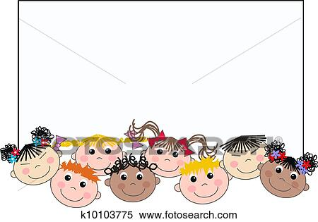 Stock Illustration of mixed ethnic children k10103775 - Search ...