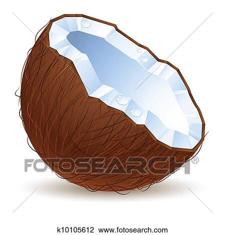 Clip Art Coconut Clip Art coconut clip art vector graphics 9966 eps clipart half a coconut