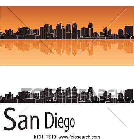 clipart san diego skyline fotosearch search clip art murals drawings