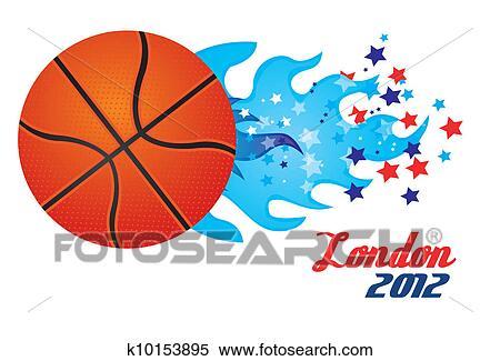 剪贴画 篮球, 奥林匹克 运动会 k10153895 搜