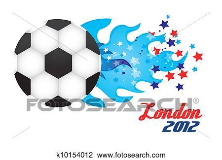 剪贴画 奥林匹克 运动会, 足球 k10154012 搜