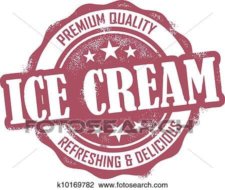 剪贴画 葡萄收获期, 冰淇淋, 邮票