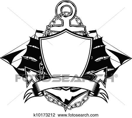 ship anchor drawing  Clip Art - anchor and