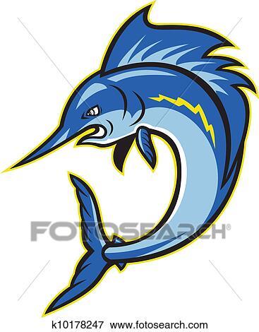 Clipart sailfish espadon sauter dessin anim - Dessin espadon ...