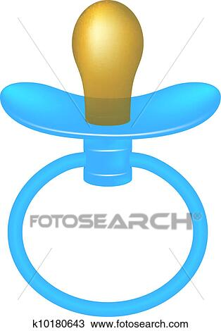 Clipart of Blue baby dummy k10180643 - Search Clip Art ...